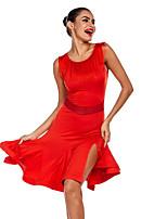 cheap -Latin Dance Dresses Women's Performance Polyester / Milk Fiber Tassel Dress