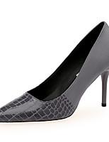 cheap -Women's Heels Stiletto Heel Pointed Toe Suede / PU Minimalism Spring &  Fall Black / Light Grey