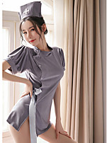 cheap -Women's Backless Suits Nightwear Solid Colored Black Gray One-Size