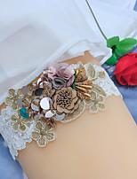 cheap -Chinlon / Elastane / Lace Wedding Wedding Garter With Petal / Floral Garters Wedding / Festival