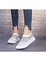 cheap -Women's Sandals Wedge Heel Closed Toe PU Summer Pink / White / Black
