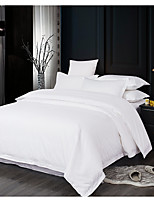 cheap -Duvet Cover Sets 4 Piece Linen / Cotton Solid Colored White Printed Chic & Modern