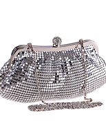 cheap -Women's Sequin / Crystals Polyester Evening Bag Solid Color Silver
