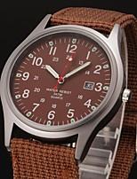 cheap -Men's Sport Watch Quartz Black / Brown / Green Calendar / date / day Day Date Analog Fashion Cool - Black Brown Green One Year Battery Life