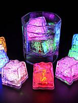 Недорогие -Изменение цвета свечение светодиодный кубик льда светодиодный погружной свет вспышки света для партии бар свадьбы