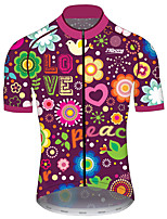 cheap -21Grams Men's Women's Short Sleeve Cycling Jersey 100% Polyester Purple Funny Bike Jersey Top Mountain Bike MTB Road Bike Cycling UV Resistant Breathable Quick Dry Sports Clothing Apparel / Stretchy