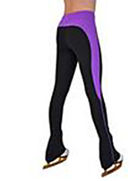 cheap -Over The Boot Figure Skating Tights Women's Girls' Ice Skating Pants / Trousers Purple Spandex High Elasticity Training Skating Wear Patchwork Ice Skating Figure Skating / Kids