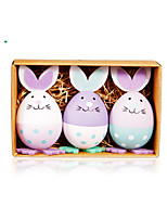 cheap -Happy Easter bunny egg Holiday Decorations objects 1 set