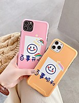 cheap -Case For Apple iPhone 11 / iPhone 11 Pro / iPhone 11 Pro Max Shockproof / Ultra-thin / Frosted Back Cover Word / Phrase / Cartoon PC