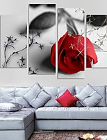 cheap -4 Panels Modern Canvas Prints Painting Home Decor Artwork Pictures DecorPrint Rolled  Stretched  Modern Art Prints Botanical Floral