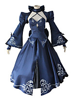 cheap -Inspired by Fate / Stay Night Saber Anime Cosplay Costumes Japanese Cosplay Suits Top Dress Shawl For Women's / Bow / Sleeves / Neckwear
