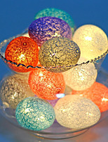 cheap -Christmas Cotton Ball Egg String Lights LED Easter Egg String Lights