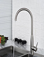cheap -Kitchen faucet - Single Handle One Hole Stainless Steel Standard Spout Centerset Contemporary Kitchen Taps