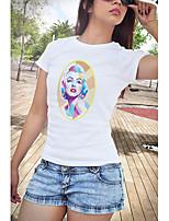 Недорогие -Вдохновлен Смешной слоган Одри Хепберн Мэрилин Монро Косплэй Kостюмы Как у футболки Полиэстер С принтом Рисунок Футболка Назначение Жен.