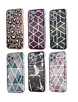 cheap -Case For Apple iPhone 11 11 Pro 11 Pro Max New diamond pattern marble pattern plating process thickened TPU material IMD process all-inclusive mobile phone shell