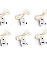 cheap -6pcs 3Mode 20Led Light Strings Christmas Wedding Party Decoration LED String Fairy Lights