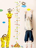 cheap -Kids Height Chart Wall Sticker Decor Cartoon Giraffe Monkey Height Ruler Wall Stickers Home Room Decoration Wall Art Sticker Poster
