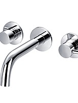cheap -Bathroom Sink Faucet - Wash Basin Faucets Wall Mounted Hot and Cold Double Handles Faucet Bath Sink Mixer Tap