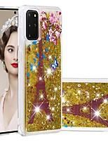 cheap -Case For Samsung Galaxy Samsung Galaxy A50s / Samsung Galaxy A30s / Samsung Galaxy A10s Flowing Liquid / Transparent / Pattern Back Cover Glitter Shine TPU