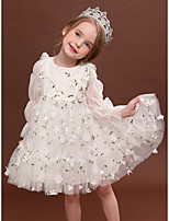 cheap -Princess Dress Girls' Movie Cosplay Cosplay Halloween White / Pink Dress Halloween Carnival Masquerade Tulle Polyester