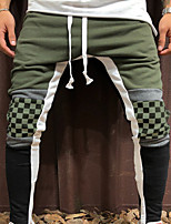 cheap -Men's Jogger Pants Harem Color Block Yellow Red Army Green Cotton Running Fitness Gym Workout Bottoms Sport Activewear Breathable Soft Stretchy