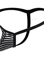 cheap -Men's Mesh G-string Underwear - Normal Low Waist Black Yellow Blue M L XL