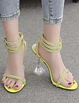 cheap -Women's Heels Stiletto Heel Round Toe PU Spring & Summer Green / Black