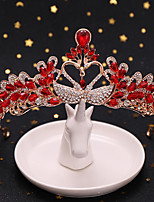 cheap -Women's Hair Jewelry For Wedding Wedding Geometrical Crystal Alloy Red 1 pc