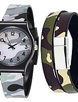 cheap -Men's Sport Watch Quartz Rubber Grey Chronograph Cute New Design Analog Casual Fashion - Gray One Year Battery Life