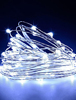 cheap -USB Operated Copper Wire Starry Lights 10m 100 LED String USB DC 5V for Chritsmas Wedding Halloween Patio Party 1pc