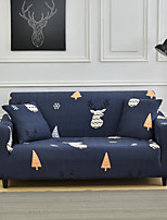 cheap -Blue Cartoon Deer Print Dustproof All-powerful Slipcovers Stretch Sofa Cover Super Soft Fabric Couch Cover with One Free Pillow Case