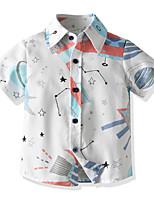 cheap -Kids Toddler Boys' Basic Plaid Print Short Sleeve Shirt White