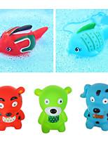 cheap -Bath Toys infloating Yellow Ducks Set Kids Little Dolphin Animals House Kids Bath Toys set