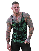 cheap -Men's Tank Top Winter Camo / Camouflage Black Army Green Green Red Gray Yoga Running Fitness Tank Top Sleeveless Sport Activewear Breathable Quick Dry Comfortable Micro-elastic Slim