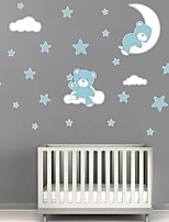 cheap -Animals / Stars Wall Stickers Plane Wall Stickers Decorative Wall Stickers PVC Home Decoration Wall Decal Wall / Window Decoration 1pc