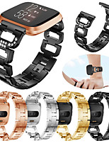 cheap -Watch Band for Fitbit Versa / Fitbit Versa Lite / Fitbit Versa 2 Fitbit Sport Band / Modern Buckle / Jewelry Design Stainless Steel Wrist Strap for Fitbit Versa 2