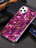 cheap -Case For Apple iPhone 11 / iPhone 11 Pro / iPhone 11 Pro Max Plating / Pattern Back Cover Geometric Pattern / Marble TPU
