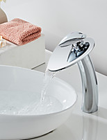 cheap -Bathroom Sink Faucet - Waterfall Chrome /Creative Love Electroplated Centerset Single Handle One HoleBath Taps