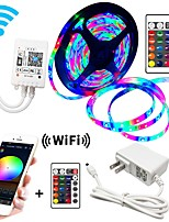 cheap -5m Flexible LED Light Strips  RGB Strip Lights  WIFI Controls 270 LEDs SMD3528 8mm IP65 Waterproof  1 x 2A power adapter 1 set RGB  Change Christmas  New Year's  Decorative