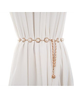 cheap -Metalic Wedding / Party / Evening Sash With Imitation Pearl / Belt Women's Sashes
