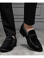 cheap -Men's PU Spring & Summer Casual Loafers & Slip-Ons Walking Shoes Breathable Brown / Black