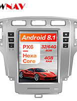 cheap -ZWNAV 10.4 Inch 1 Din PX6 4GB 64GB Tesla style Android 8.1 Car GPS Navigation Car multimedia Player In-Dash Car DVD Player For Ford Mondeo MK4 2007-2010