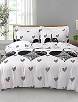 cheap -City Series Black and White Heart Paris Eiffel Tower Lightweight Reversible Comforter Set Soft 3Pcs Duvet Cover Set(1 Duvet Cover  2 Pillow Shams)King/Queen