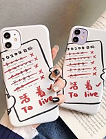cheap -Case For Apple iPhone 11 / iPhone 11 Pro / iPhone 11 Pro Max Shockproof / Ultra-thin / Pattern Back Cover Word / Phrase PC