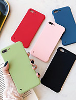 cheap -Case For Apple iPhone X / XS / XR / XS Max / 8 / 7 / 6 / 6s / 8 Plus / 7 Plus / 6 Plus Shockproof / Ultra-thin / Frosted Back Cover Solid Colored PC