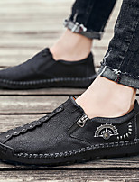 cheap -Men's Leather Spring & Summer / Fall & Winter Classic / Preppy Loafers & Slip-Ons Walking Shoes Breathable Black / Dark Grey / Light Brown