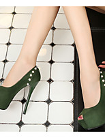 cheap -Women's Heels Stiletto Heel Pointed Toe PU Spring & Summer Black / Green / Gray