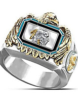 cheap -Women's Ring 1pc Silver Silver 2 Platinum Plated Alloy Stylish Unique Design Punk Daily Jewelry Cute