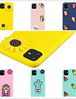 cheap -Case For Apple iPhone 11 / iPhone 11 Pro / iPhone 11 Pro Max Frosted / DIY Back Cover Solid Colored / 3D Cartoon TPU