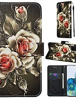 cheap -Case For Samsung Galaxy A90/Galaxy A80/Galaxy A50s Wallet / Card Holder / with Stand Full Body Cases Flower PU Leather For Galaxy A51/A71/S20/S20 Plus/S20 Ultra/A10S/A20S/A30S